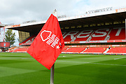 Corner flag during the EFL Sky Bet Championship match between Nottingham Forest and Wolverhampton Wanderers at the City Ground, Nottingham, England on 16 September 2017. Photo by Jon Hobley.