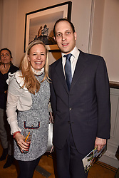 Astrid Harbord and Lord Frederick Windsor at Mark Shand's Adventures and His Cabinet Of Curiosities VIP private view, 32 Portland Place, London, England. 20 February 2018.