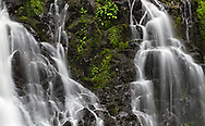 Closeup of Steelhead Falls in the Hayward Lake Recreation Area in Mission, British Columbia, Canada