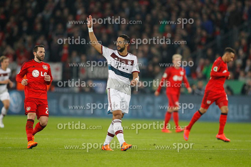 08.04.2015, BayArena, Leverkusen, GER, DFB Pokal, Bayer 04 Leverkusen vs FC Bayern Muenchen, Viertelfinale, im Bild Mehdi Benatia (FC Bayern Muenchen #5) // during the German DFB Pokal quarter final match between Bayer 04 Leverkusen and FC Bayern Munich at the BayArena in Leverkusen, Germany on 2015/04/08. EXPA Pictures &copy; 2015, PhotoCredit: EXPA/ Eibner-Pressefoto/ Schueler<br /> <br /> *****ATTENTION - OUT of GER*****