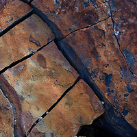 An abstract of fractured talus boulders taken near sunset at Blackrock Summit, Shenandoah National Park, VA