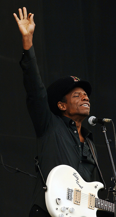 BALADO, KINROSS, SCOTLAND - JULY 12th 2008: Eddy Grant performs live at T in the Park 2008.
