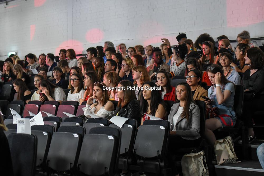Backstage at the Graduate Fashion Week 2018, 4June 4 2018 at Truman Brewery, London, UK.