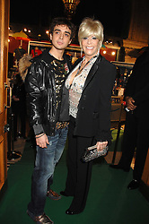 LISA VOICE and her son MICHAEL at the gala night of Varekai by Cirque du Soleil at The Royal Albert Hall, London on 8th January 2008.<br />