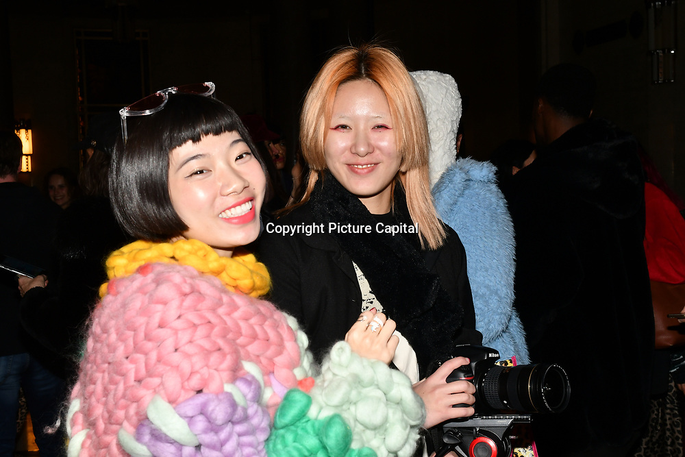 Fashionist attend Fashion Scout LFW AW19 Day 1 at Freemasons' Hall, London, UK. 15 Feb 2019