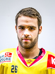 21.08.2013, Albert Schultz Halle, Wien, AUT, EBEL, Spielerportraits UPC Vienna Capitals, im Bild Michael Schiechl, (UPC Vienna Capitals, #26) // during UPC Vienna Capitals Player Portrait Session at the Albert Schultz Halle, Wien, Austria on 2013/08/21. EXPA Pictures © 2013, PhotoCredit: EXPA/ Sebastian Pucher