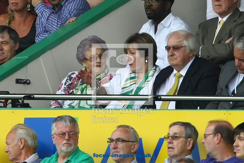 Picture by Paul Chesterton/Focus Images Ltd +44 7904 640267<br /> 17/08/2013<br /> Norwich City's Joint Majority Shareholder Delia Smith during the Barclays Premier League match at Carrow Road, Norwich.