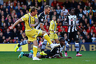 Martyn Woolford of Millwall scores the opening goal against Watford during the Sky Bet Championship match at Vicarage Road, Watford<br /> Picture by David Horn/Focus Images Ltd +44 7545 970036<br /> 01/11/2014