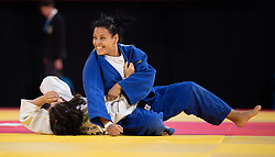 October 8, 2018 - Buenos Aires, ARGENTINA - 181009 2018 Youth Olympic Games, Day 3: Yassamine Djellab ALG and Hasret Bozkurt TUR in action during the Judo Women's -63kg at The Asia Pavilion, Youth Olympic Park. The Youth Olympic Games, Buenos Aires, Argentina Saturday 6th October 2018. Photo: Alexander D'Addese for OIS/IOC. Handout image supplied by OIS/IOC / 87793  (Credit Image: © Alexander D'Addese For Ois/Bildbyran via ZUMA Press)
