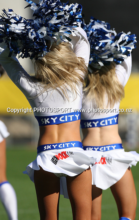 Skycity Blues Cheerleaders during the Super 14 rugby union match, Blues v Sharks at Eden Park, Auckland, New Zealand. Saturday 14 February 2009. Photo: Andrew Cornaga/PHOTOSPORT