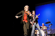 John, Jeff, and Jimmie near the end of their Nitty Gritty Dirt Band performance at the Landis Theater in Vineland, NJ.