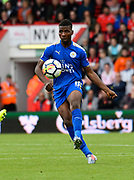 Kelechi Iheanacho (8) of Leicester City on the attack during the Premier League match between Bournemouth and Leicester City at the Vitality Stadium, Bournemouth, England on 30 September 2017. Photo by Graham Hunt.