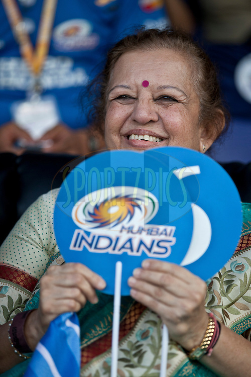 MI fan during match 27 of the Indian Premier League ( IPL ) between the Deccan Chargers and the Mumbai Indians held at the Rajiv Gandhi International Cricket Stadium in Hyderabad on the 24th April 2011..Photo by Saikat Das/BCCI/SPORTZPICS.