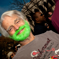 Washington, DC, October 30, 2010 - Jon Stewert and Steven Colbert host the Rally To Restore Sanity and/or Fear.  Tens of thousands of ralliers donned costumes, carried signs, or, in this case, dyed their beards green.