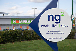 NG2;  the completed development of a retail and offices park in the city of Nottingham,