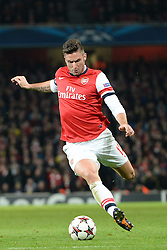 26.11.2013, The Emirates Stadium, London, ENG, UEFA CL, FC Arsenal vs Olympique Marseille, Gruppe F, im Bild Arsenal's Oliver Giroud // Arsenal's Oliver Giroud during UEFA Champions League group F match between FC Arsenal and Olympique Marseille at the The Emirates Stadium in London, Great Britain on 2013/11/26. EXPA Pictures © 2013, PhotoCredit: EXPA/ Mitchell Gunn<br /> <br /> *****ATTENTION - OUT of GBR*****