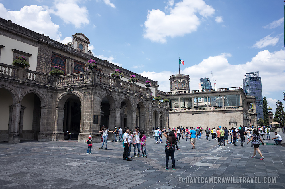 Since construction first started around 1785, Chapultepec Castle has been a Military Academy, Imperial residence, Presidential home, observatory, and is now Mexico's National History Museum (Museo Nacional de Historia). It sits on top of Chapultepec Hill in the heart of Mexico City.