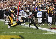 15 NOVEMBER 2008: Purdue running back Kory Sheets (24) in the first half of an NCAA college football game against Purdue, at Kinnick Stadium in Iowa City, Iowa on Saturday Nov. 15, 2008. Iowa beat Purdue 22-17.