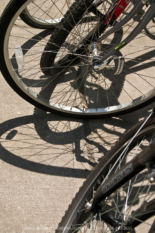 Pedal power! Bicycles are a great alternative to dirty fossil fuel burning transportation sources, especially in urban areas.