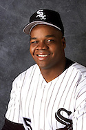 TUCSON - FEBRUARY 25:  Frank Thomas of the Chicago White Sox poses for a head shot during spring training in Tucson, Arizona on February 25, 2000.  Thomas played for the White Sox from 1990-2005.  (Photo by Ron Vesely)