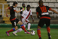 10.02.2013 SPAIN -  La Liga 12/13 Matchday 23th  match played between Rayo Vallecano vs Atletico de Madrid (2-1) at Campo de Vallecas stadium. The picture show Alhassane Bangoura LASS (Guinean striker of Rayo Vallecano)
