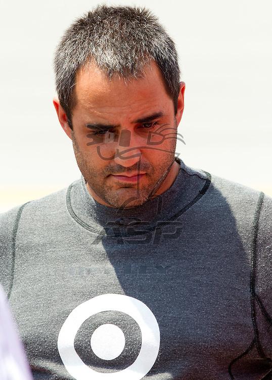 Talladega, AL - MAY 05, 2012:  Juan Pablo Montoya (42) waits to qualify for the Aaron's 499 race at the Talladega Superspeedway in Talladega, AL.