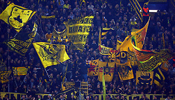 November 21, 2017 - Dortmund, Germany - Borussia Dortmund Flags. during UEFA Champion  League Group H Borussia Dortmund between Tottenham Hotspur played at Westfalenstadion, Dortmund, Germany 21 Nov 2017  (Credit Image: © Kieran Galvin/NurPhoto via ZUMA Press)