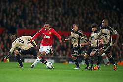 22.11.2011, Old Trafford, Manchester, ENG, UEFA CL, Gruppe C, Manchester United (ENG) vs Benfica Lissabon (POR), im Bild Manchester United's Nani in action against SL Benfica during the football match of UEFA Champions league, group C, between Manchester United (ENG) vs Benfica Lissabon (POR) at Old trafford, Manchester, United Kingdom on 22/11/2011. EXPA Pictures © 2011, PhotoCredit: EXPA/ Sportida/ David Rawcliff..***** ATTENTION - OUT OF ENG, GBR, UK *****