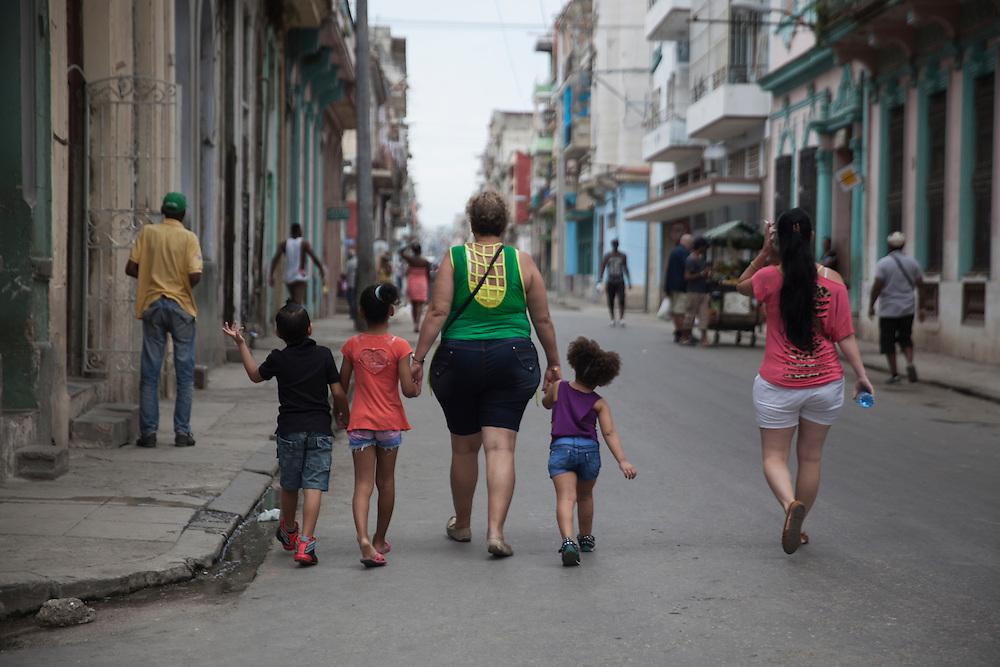 Street scene in Centro Habana, in Havana, Cuba.<br /> <br /> Escena en una calle de Centro Habana.