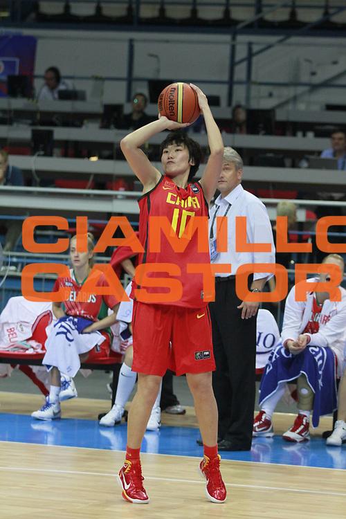 DESCRIZIONE : Ostrawa Repubblica Ceca Czech Republic Women World Championship 2010 Campionato Mondiale Preliminary Round Belarus China<br /> GIOCATORE : Fan ZHANG <br /> SQUADRA : China Cina<br /> EVENTO : Ostrawa Repubblica Ceca Czech Republic Women World Championship 2010 Campionato Mondiale 2010<br /> GARA : Belarus China Bielorussia Cina<br /> DATA : 23/09/2010<br /> CATEGORIA :<br /> SPORT : Pallacanestro <br /> AUTORE : Agenzia Ciamillo-Castoria/H.Bellenger<br /> Galleria : Czech Republic Women World Championship 2010<br /> Fotonotizia : Ostrawa Repubblica Ceca Czech Republic Women World Championship 2010 Campionato Mondiale Preliminary Round Belarus China<br /> Predefinita :