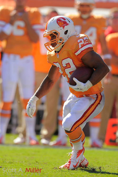 Tampa Bay Buccaneers running back Doug Martin (22) action against the New Orleans Saints at Raymond James Stadium  on Oct. 14, 2012 in Tampa, Florida. The Saints won 35-28....©2012 Scott A. Miller...