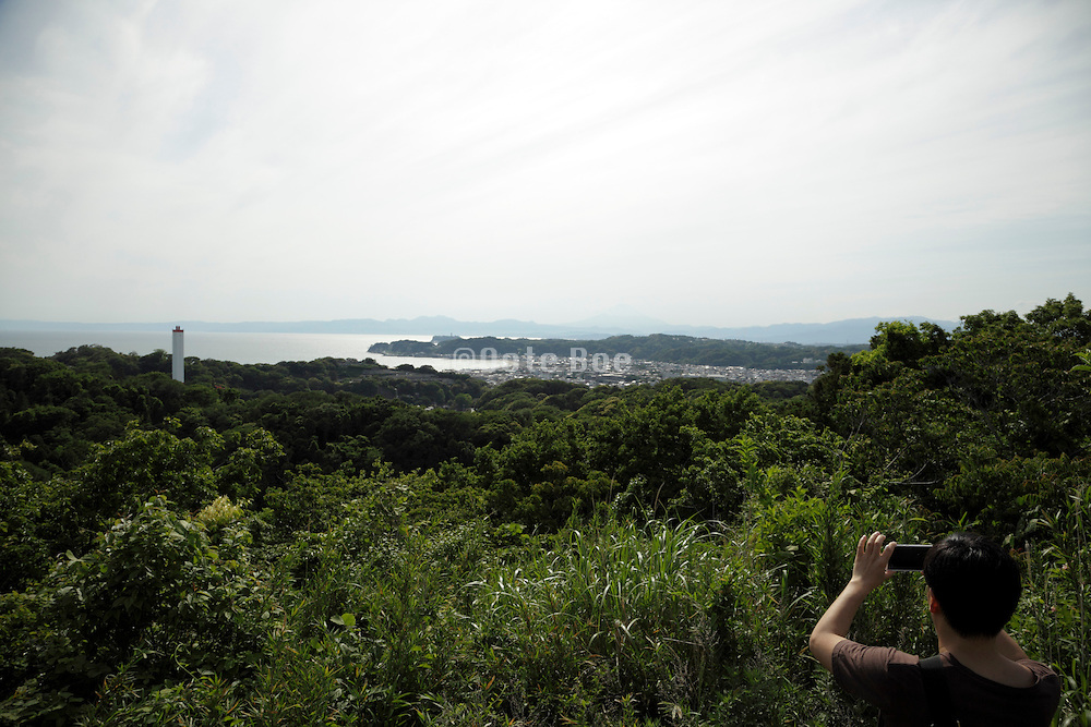 panoramic view overlooking Kamakura in the distance Japan