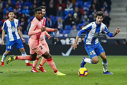 December 8, 2018 - Barcelona, Catalonia, Spain - RCD Espanyol defender Didac (12) during the match RCD Espanyol against FC Barcelona, for the round 15 of the Liga Santander, played at RCD Espanyol Stadium  on 8th December 2018 in Barcelona, Spain. (Credit Image: © Mikel Trigueros/NurPhoto via ZUMA Press)