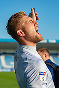 Ipswich Town goalkeeper Tomas Holy (1) celebrates winning the game after  the EFL Sky Bet League 1 match between Gillingham and Ipswich Town at the MEMS Priestfield Stadium, Gillingham, England on 21 September 2019.