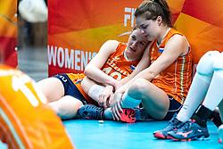 20-10-2018 JPN: Final World Championship Volleyball Women day 18, Yokohama<br /> China - Netherlands 3-0 / Lonneke Sloetjes #10 of Netherlands, Yvon Belien #3 of Netherlands