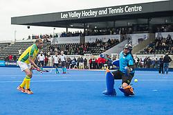 Surrey v Indian Gymkhana - Men's O60's Cup Final, Lee Valley Hockey & Tennis Centre, London, UK on 29 April 2017. Photo: Simon Parker