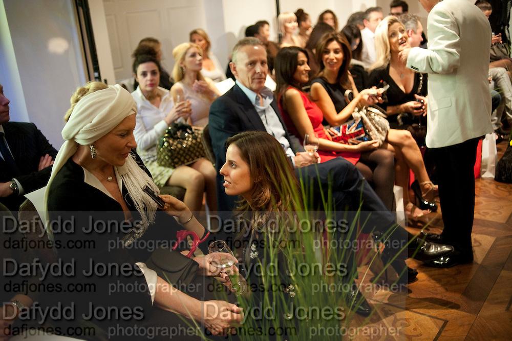 PRINCESS MICHAEL OF KENT BEING INTERVIEWED BY JOURNALIST VICTORIA-ANNE BULL; CARL MICHAELSON;  JACKIE ST. CLAIRE;  SHOSHANA DADOUN, , Stephane St. Jaymes Spring Summer 2011 fashion show.<br /> The Westbury Mayfair, Bond Street, London,DO NOT ARCHIVE-© Copyright Photograph by Dafydd Jones. 248 Clapham Rd. London SW9 0PZ. Tel 0207 820 0771. www.dafjones.com.