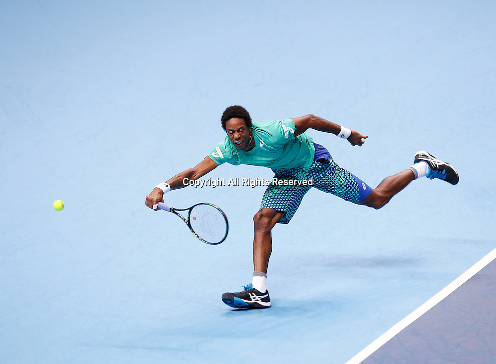 15.11.2016. The O2, London, England. ATP Tour Tennis Finals. Day Three.  Dominic Thiem (AUT) defeats Gael Monfils (FRA) by a score of 6-3, 1-6, 6-4 during Day 3  at Barclays ATP World Tour Finals from the O2 Arena.
