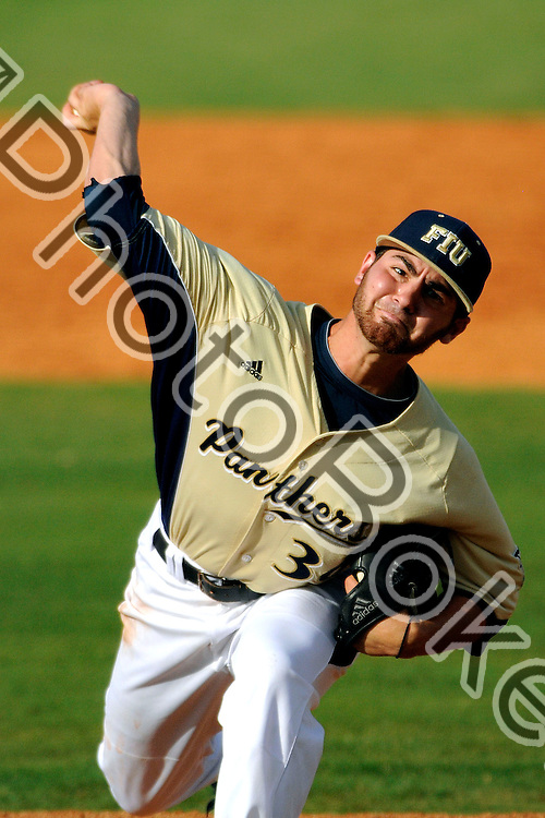 2013 April 27 - FIU's Dillon Maya (36). .Florida International University fell to Louisiana-Lafayette, 9-1, at the FIU Baseball Stadium, Miami, Florida. (Photo by: www.photobokeh.com / Alex J. Hernandez) This image is copyright PhotoBokeh.com and may not be reproduced or retransmitted without express written consent of PhotoBokeh.com. ©2013 PhotoBokeh.com - All Rights Reserved