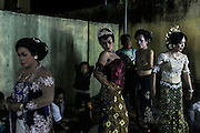 Transvestite change costum in between a show in Mojokerto, East Java, Indonesia, June 6, 2015.