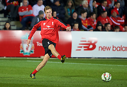 ADELAIDE, AUSTRALIA - Sunday, July 19, 2015: Liverpool's Daniel Cleary during a training session at Coopers Stadium ahead of a preseason friendly match against Adelaide United on day seven of the club's preseason tour. (Pic by David Rawcliffe/Propaganda)