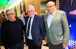 Danilo Popivoda,  Rudi Zavrl and Ivo Daneu during Traditional New Year party of of the Slovenian Football Association - NZS, on December 18, 2017 in Kongresni center, Brdo pri Kranju, Slovenia. Photo by Vid Ponikvar / Sportida