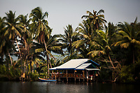 A local home on the Tatai river in Koh Kong, Cambodia.