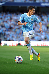 Manchester City's Jesus Navas - Photo mandatory by-line: Dougie Allward/JMP - Tel: Mobile: 07966 386802 22/09/2013 - SPORT - FOOTBALL - City of Manchester Stadium - Manchester - Manchester City V Manchester United - Barclays Premier League