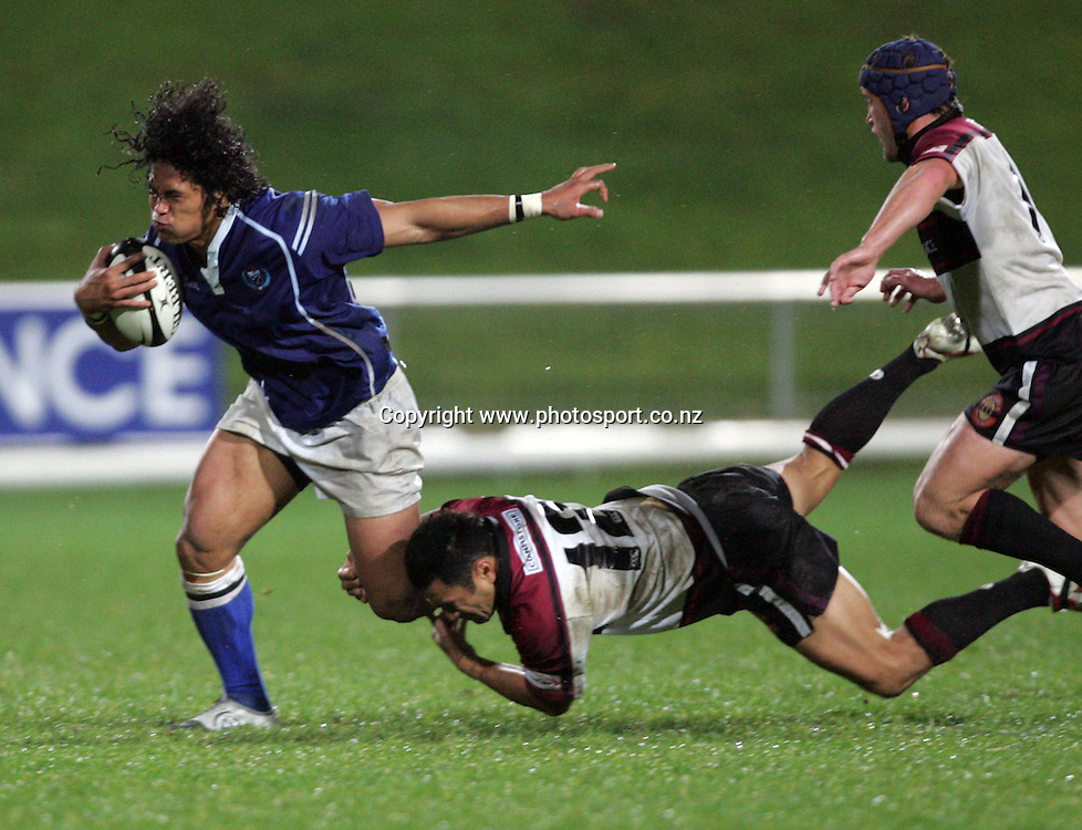 Alesana Tuilagi during the NPC pre-season match between North Harbour and Manu Samoa at North Harbour Stadium, Auckland, New Zealand on Wednesday June 22, 2005. North Harbour won the match, 18 - 10. Photo: Hannah Johnston/PHOTOSPORT