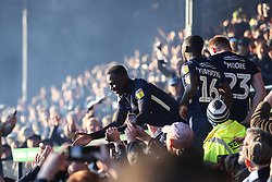 Elvis Bwomono of Southend United celebrates survival - Mandatory by-line: Arron Gent/JMP - 04/05/2019 - FOOTBALL - Roots Hall - Southend-on-Sea, England - Southend United v Sunderland - Sky Bet League One
