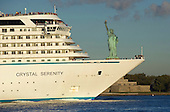09/16/2016 Crystal Serenity Arrives in New York after Northwest Passage Voyage