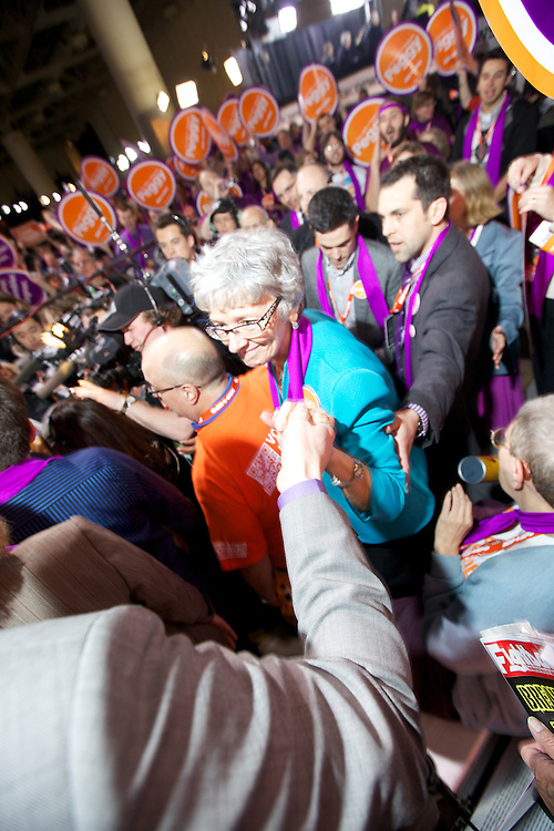 In Toronto on March 24th 2012, I worked for NDP Leadershp candidate Peggy Nash. The process of elimination was an emotional rollercoaster for most participants with results being drawn out due to cyber attacks and general tech trouble. The end result will be released in minutes.