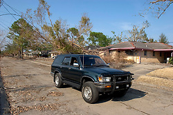 21 Sept 2005. Slidell, Louisiana.  Hurricane Katrina aftermath. <br /> The toyota 4runner in Slidell, Eastern Orleans after the flood waters receded.<br /> Photo; ©Charlie Varley/varleypix.com