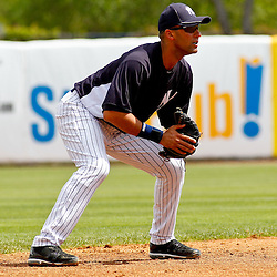 March 11, 2012; Tampa Bay, FL, USA; New York Yankees shortstop Derek Jeter (2) during the top of the third inning of a spring training game against the Philadelphia Phillies at George M. Steinbrenner Field. Mandatory Credit: Derick E. Hingle-US PRESSWIRE